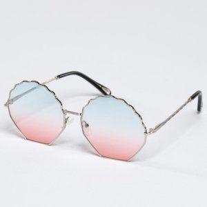 Wavy Top Frame Sunglasses